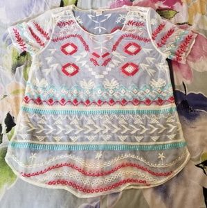 Sundance embroidered blouse